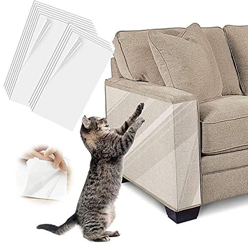 Kratzschutz für Haustiere,kratzschutz sofa,Anti-Kratzer Katzen Ausbildung Klebeband,für Hund und Katze, Krallenschutz für Möbel,Couch,selbstklebend,10er-Pack,30*40 cm