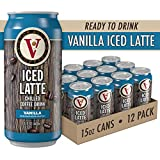 Victor Allen Coffee Pre-Made Iced Vanilla Latte, Ready To Drink, 15 Fl Oz (Pack of 12)
