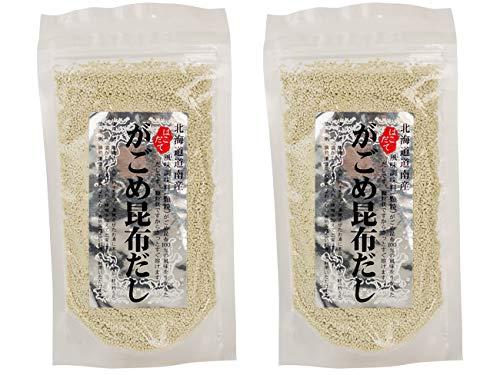 がごめ昆布だし 70g×2袋セット(顆粒タイプ)さっと溶けて使い勝手の良いがごめこんぶだし(北海道産ガゴメコンブ使用の顆粒出汁)がごめコンブ100%の風味を生かしたダシ