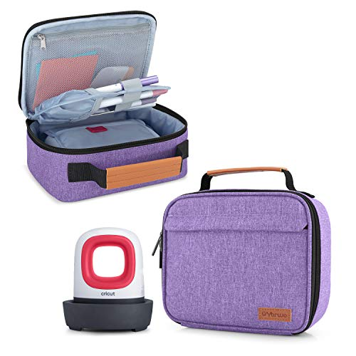 Yarwo Carrying Case Compatible with Cricut Easy Press Mini, Portable Tote Bag for Craft Tools and Accessories, Purple