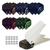HERZWILD Perforadora de plumas de dardo, anillo de metal, accesorios