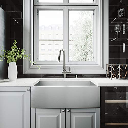 Vigo All-in-one 30″ Camden Stainless Steel Farmhouse Kitchen Sink Set