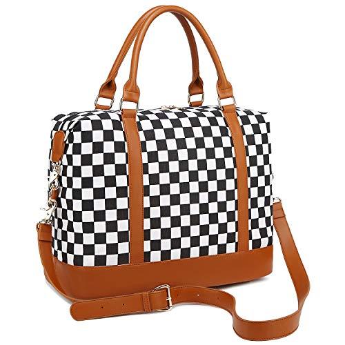 BLUBOON Women Ladies Canvas Weekender Bag