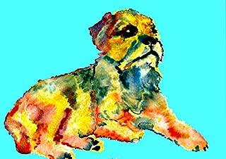 border terrier art