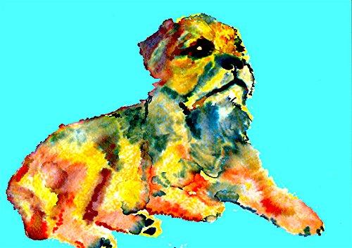 Amazon Com Border Terrier Painting Wall Art Print Colorful Border Terrier Home Decor Dog Nursery Art Border Terrier Owner Gift Dog Wall Art Print Colorful Dog Painting By Oscar Jetson Handmade