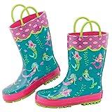 Stephen Joseph Kids Rain Boots, Mermaid, 13