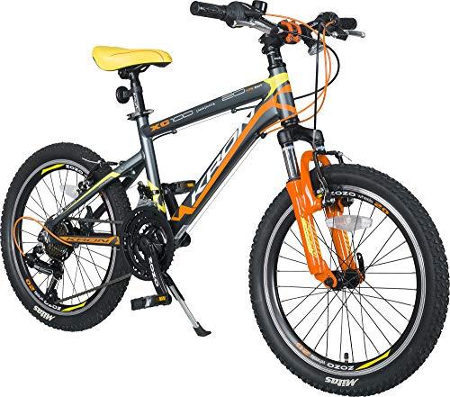 KRON XC-100 Hardtail Alu Jugendfahrrad Kinderfahrrad 20 Zoll, 24 Zoll von 6-14 Jahre | 21 Gang Shimano Schaltung, V-Bremse oder Scheibenbremse, Federgabel, 13 Zoll Rahmen | Kinder Mountainbike