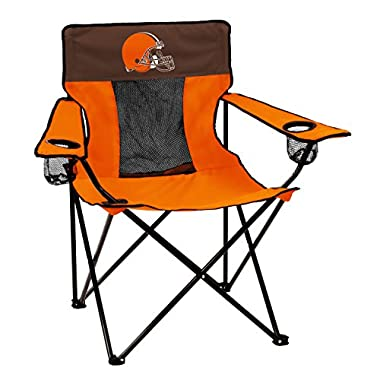 Logo Brands NFL Cleveland Browns  Folding Elite Chair with Mesh Back and Carry Bag ,  Orange,  One Size