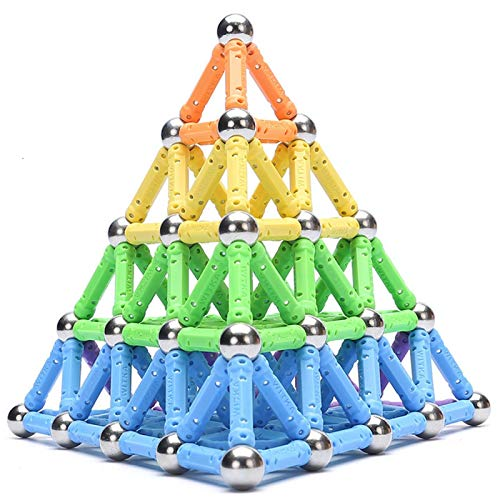 Bloques de construcción Divertido Magnetic Building Blocks Sticks Set Juguete Educativo para niños niños niños niñas cumpleaños Navidad imán Regalo de imán