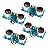 DesignSter 4 piezas HC-SR04 Sensor de distancia de módulo ultrasónico con soporte de montaje para Arduino