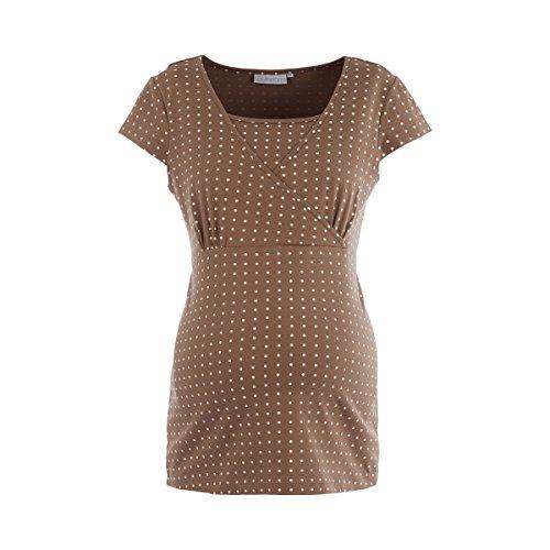 2HEARTS T-Shirt de Grossesse et d'allaitement Cache-Coeur T-Shirt de Grossesse T-Shirt de Grossesse, Pine Bark