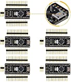Nano V3.0 Plus Compatible with Arduino, Micro USB Nano Board ATmega328P 5V 16M Micro-Controller Board (Pack of 5)