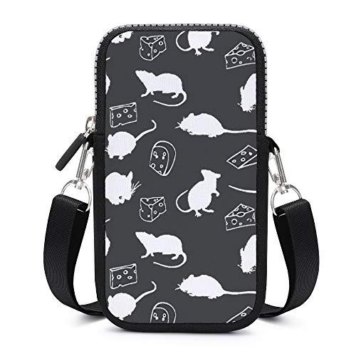 Sac à main pour téléphone portable avec bandoulière amovible pour souris, gâteaux, porte-clés, brassard, porte-monnaie, sacs de course pour garçons