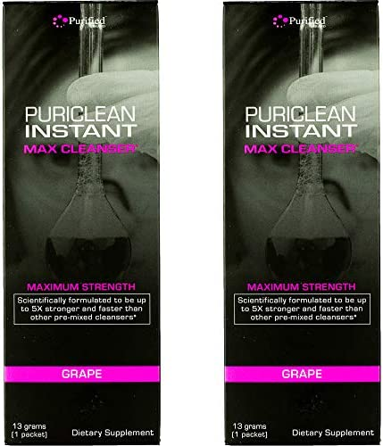 Puriclean Instant MAX Cleanser- Maximum Strength- 13grams of Cleanser-Quick Flush-5X Stronger & Faster Than Other Pre-Mixed cleansers(Great Tasting- Grape) 32oz