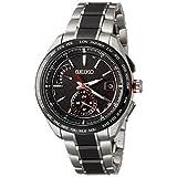 [セイコーウォッチ] 腕時計 ブライツ ソーラー電波 スポーティライン カーボン調黒文字盤 チタンモデル サファイアガラス SAGA259 メンズ シルバー