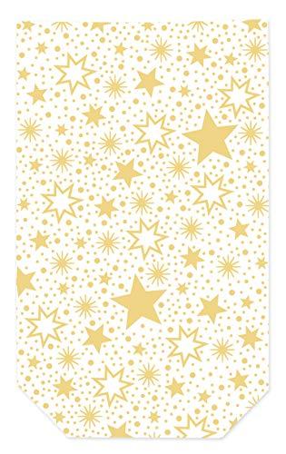 Sacchetto trasparente'Miracle Star' - sacchetto trasparente con clip di chiusura per il periodo dell'Avvento e Natale, biscotti, biscotti.