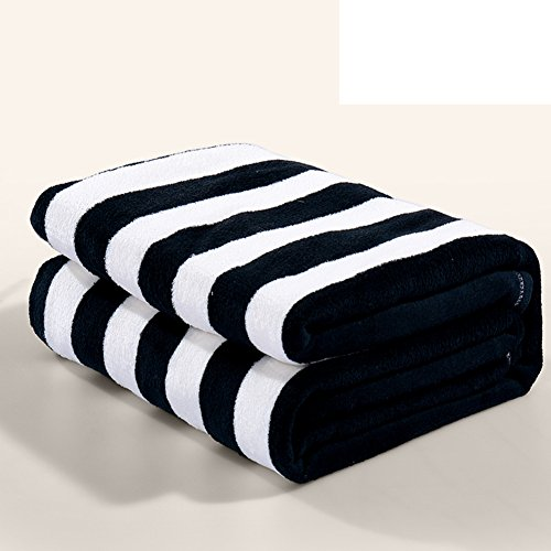 LAWQTVCDHJY North European Style Striped Solid Color Thickened Double Layer Polyester Blankets-A 150200cm(59x79inch)