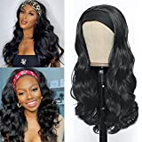 YEESHEDO Headband Wig, Pelucas de diadema afro ondulada larga negra para mujer, pelo natural de color rizado ondas peluca de Venda brasileña con 3 diademas al azar 26 '(negro)