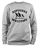 Styletex23 Sweatshirt Refugees Welcome, grau