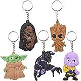 ZSWQ Conjunto de 5 Baby Yoda Keyring Llavero Star Wars Llavero Yoda Mulitcoloured, Talla única llavero de coche Unisex ,Perfecto como Regalo