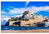 N/W Puzzle Jigsaw Rompecabezas 1000 Piezas - Peñíscola - Ciudad Española con Isla - Castillo Y Gran Playa En La Provincia De Castellón España - para Regalo Adulto
