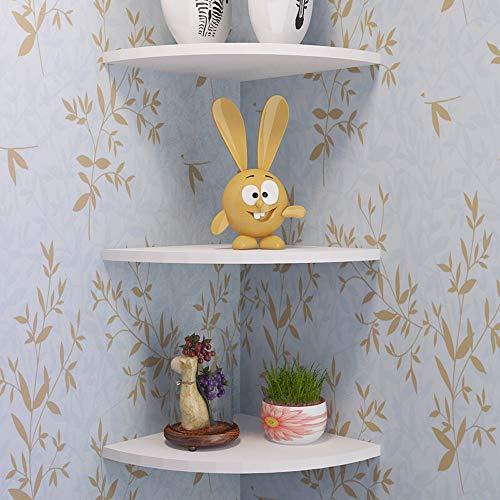 Hoekrek, wandrek, boekenkast, scheidingswand, binnenhoek, waaiervorm, eenvoudige installatie Wit.