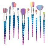 Qivange Unicorn Makeup Brushes, Foundation Eyeshadow Powder Concealer Contour Fan Brush Unicorn Designed