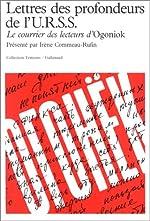 """Couverture de Lettres des profondeurs de l'urss le courrier des lecteurs d'""""ogoniok"""" - 1987-1989"""