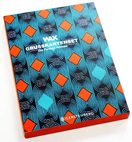 WAX Grußkarten-Set: 8 Doppelkarten mit Umschlag, 4 Motive