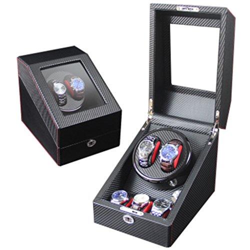 Caja Giratoria Relojes Watch Winder Mecanismo de reloj de la vendadora Mecánica completamente automática Mecanismo de reloj de la caja Mecanismo de mesa giratorio Mesa giratoria Cuadro de la mesa gira
