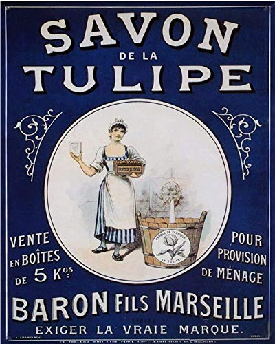 Party Decorations Supplies 8x12 Inch Savon Tulipe - Laundry Sign Tin Sign Vintage Funny Creature Iron Painting Metal Plate Personality Novelty
