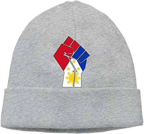 Aeykis Unisex Philippinen Flagge Faust-1 Strickmütze, warme Beanies Cap