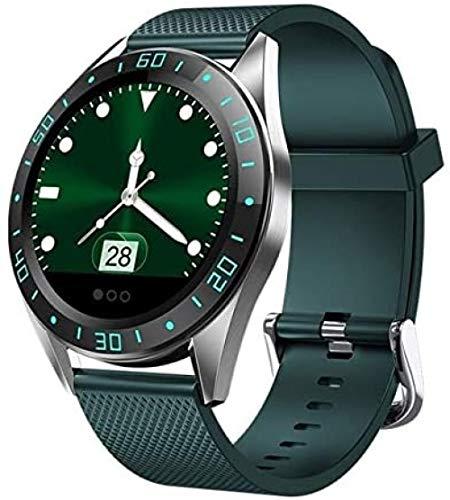 Reloj inteligente resistente al agua con función de control de tiempo y música para llamadas masculinas y femeninas y mando a distancia compatible con iOS/Android (color: verde)