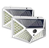 SKSNB Luces solares al Aire Libre, Sensor de Movimiento Seguridad 100 Luces LED 270 & ordm;Apliques de Pared Luces de energía Solar inalámbricas a Prueba de Agua con 3 Modos para jardín