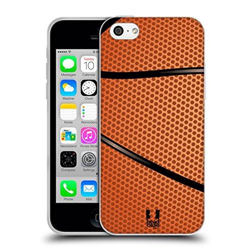 Head Case Designs Baloncesto Colección de Bolas Carcasa de Gel de Silicona Compatible con Apple iPhone 5c