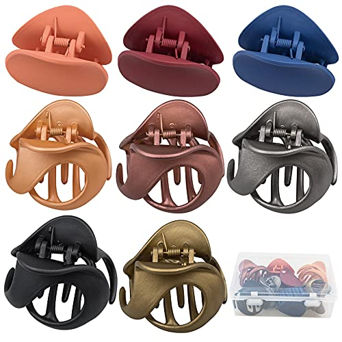 Hair Claw Clips 8 Colors, EAONE Stylish Jaw Clips Non Slip Fashion Hair Clips Hair Clamps Styling Accessories for 90s Thin Thick Hair Girls, Women, Mother s Day Christmas Gifts, Medium and Large