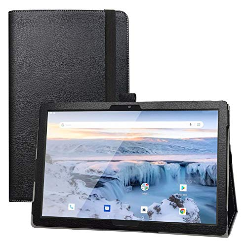 LFDZ Archos T101 4G Funda,Soporte Cuero con Slim PU Funda Caso Case para 10.1' Archos T101 4G Tablet(Not Fit Other Models),Negro