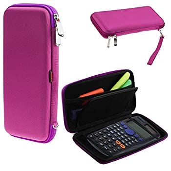 Navitech Purple Graphics Calculator Hard Case/Cover with Storage Pouch Compatible with The Texas Instruments TI 36 X PRO