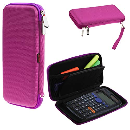 Navitech Purple Graphics Calculator Hard Case/Cover with Storage Pouch Compatible with The Casio FX-CG50-S-UH