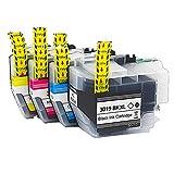 RICR Reemplazo De Cartucho De Tinta Compatible LC3017 para Brother MFC-J5330DW MFC-J6530DW (Paquete BK/C/M/Y 4) 1 Set