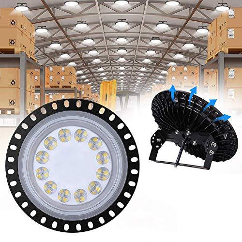 50W LED UFO Industrielampe, WZTO 5000LM LED Hallenstrahler, SMD 2835 LED High Bay Licht mit Kaltweiß 6000-6500K, Abstrahlwinkel 120° für Deckenleuchte, Hallenbeleuchtung, Werkstattbeleuchtung