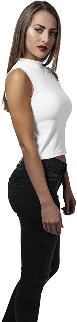 Urban Classics Ladies Turtleneck Short Top Camiseta sin Mangas para Mujer