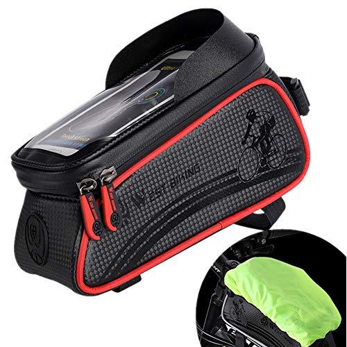 Bolsa Manillar Bicicleta Porta Movil Bicicleta Bolsa Bici Accesorios para Bicicletas De Montaña Ciclismo Bolsa Bolsa De Bicicleta Bicicleta Accesorios Red,Free Size