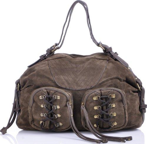 ARA Bags, Damen, Handtaschen, Shopper, Hobo-Bags, Schultertaschen, Tobacco, Taupe, 38x23x15 cm (B x H x T)