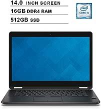 2019 Premium Dell Latitude E7470 Ultrabook 14 Inch Business Laptop (Intel Dual Core i5-6300U up to 3.0GHz, 16GB DDR4 RAM, 512GB SSD, Intel HD 520, WiFi, HDMI, Windows 10 Pro) (Renewed)