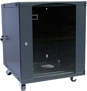 Rising 12U Wall Mount Network Server Cabinet Rack Enclosure Ventilation Door Lock 450mm Deep (12U)