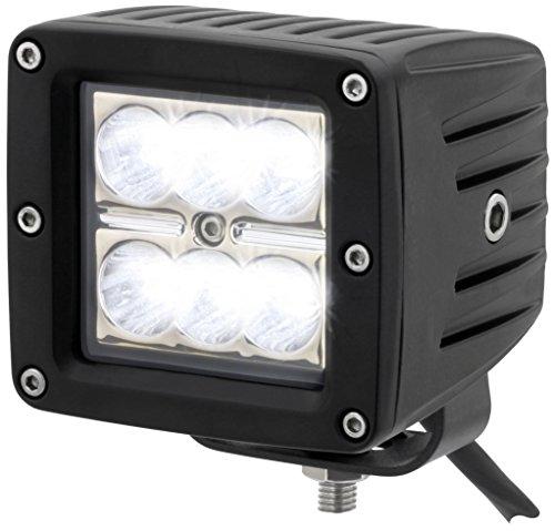 AdLuminis LED Arbeitsscheinwerfer Würfel, 18 Watt 1440 Lumen, CREE Chips, 10° Spot-Beleuchtung, Für 12V 24V, IP67 Schutzklasse, 6000K, Zusatzscheinwerfer, Rückfahrscheinwerfer, Suchscheinwerfer