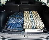 Vicera Gepäcknetz – Kofferraumnetz fürs Auto mit massiven Haken, Organizer & Sicherung für den Kofferraum