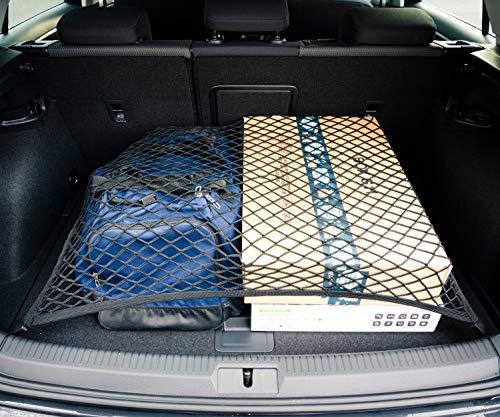 Vicera Filet à bagages – Filet de coffre de voiture avec crochets solides, organiseur et sécurité pour coffre de voiture