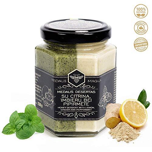Miel cruda con limón